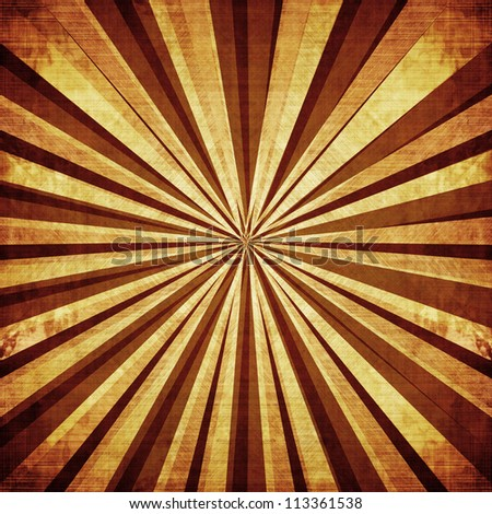 Vintage background with several lines beaming out - stock photo