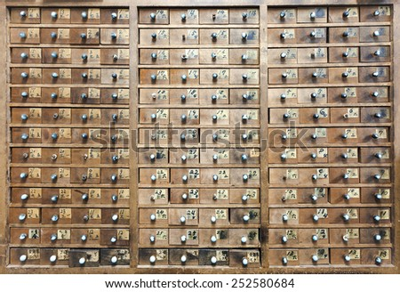 Vintage background Wooden Drawer shelf abstract wall pattern
