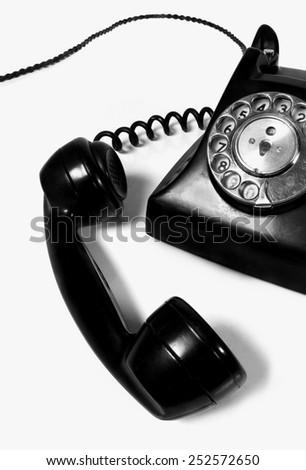 vintage Bakelite telephone - stock photo