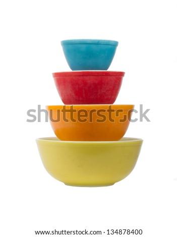 Vintage Baking dishes - stock photo