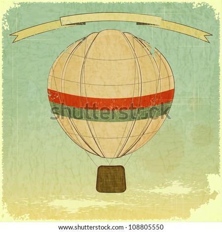 Vintage Balloon Retro card - JPEG version - stock photo