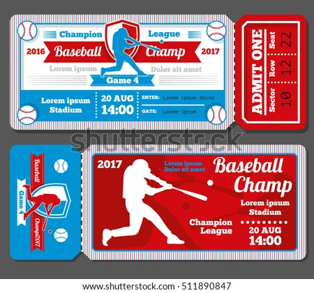 Baseball Ticket Images RoyaltyFree Images Vectors – Sports Ticket Template