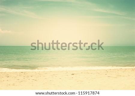 Vintage Beach - stock photo