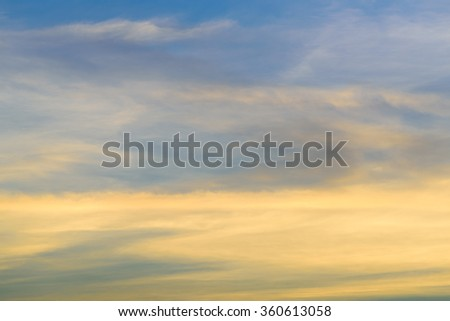 Vintage beach and sky at dusk - stock photo