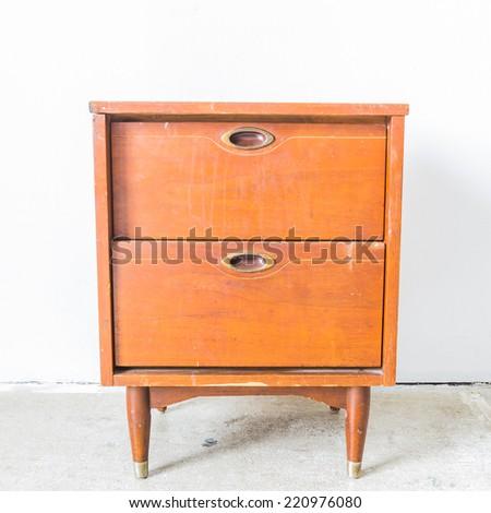 Vintage bed side - stock photo