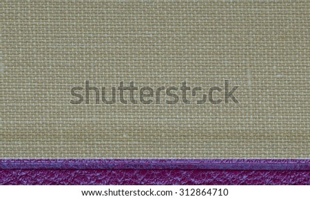 Vintage beige and white woven tweed pattern/texture with violet border backdrop for use as an advertising background or for wallpaper. - stock photo