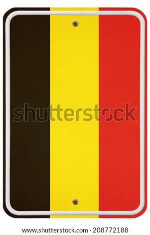 Vintage Belgium metal sign  - stock photo