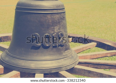 vintage bell - stock photo