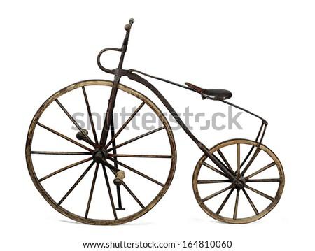 vintage bicycle - stock photo