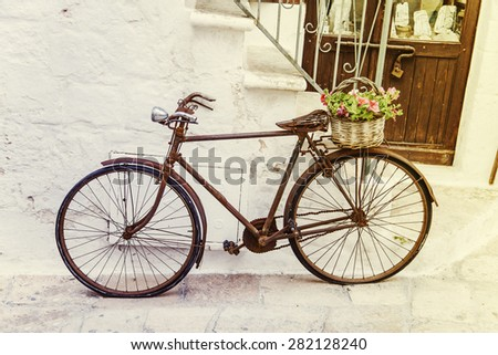 Vintage bicycle on the street