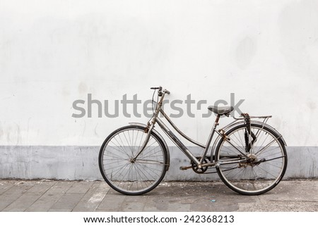 vintage bicycle parking