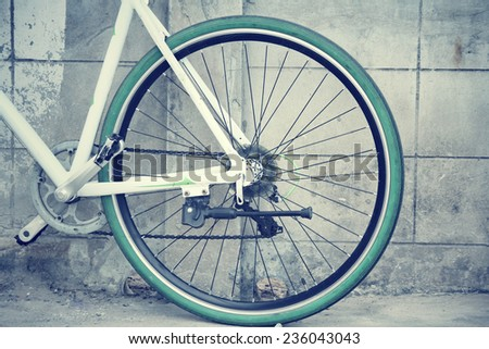 Vintage bicycle wheel
