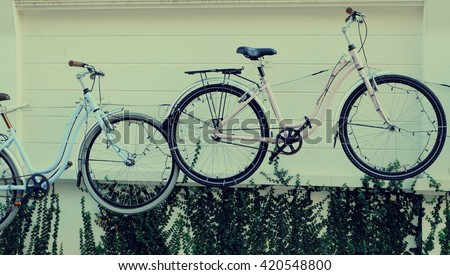 Vintage Bicycles on the wall