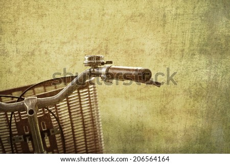 Vintage bicycles picture style - stock photo