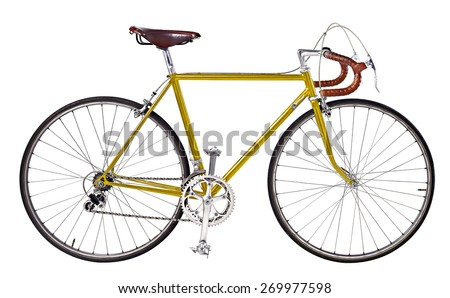 vintage bikes Gold - stock photo
