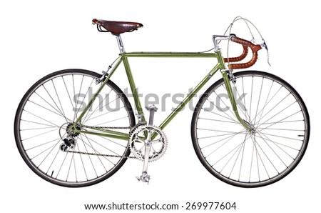 vintage bikes Green - stock photo