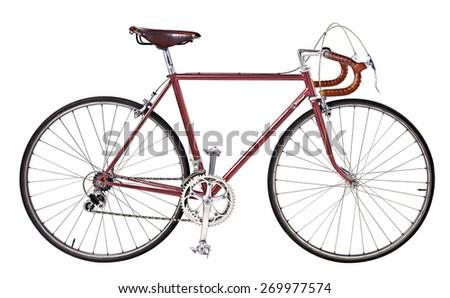 vintage bikes Red - stock photo