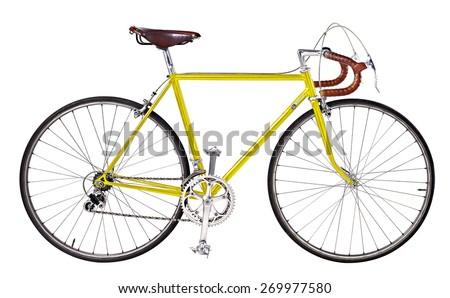 vintage bikes Yellow - stock photo