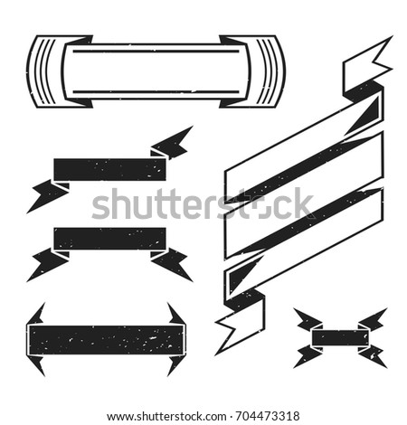 Retro Ribbon Banners Set For Template Vintage Vector Image