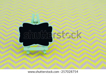 Vintage blackboard close up with shallow depth of field  - stock photo