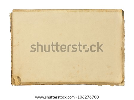 Vintage blank paper sheet - stock photo