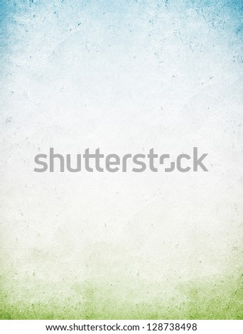 Vintage blue green paper background - stock photo