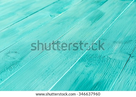 Vintage Blue Wood Boards - stock photo