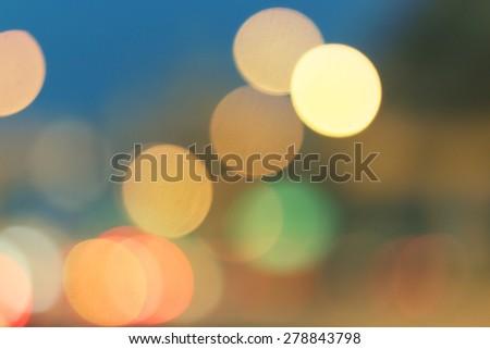 Vintage blur or bokeh traffic light. Vintage background for web design. - stock photo