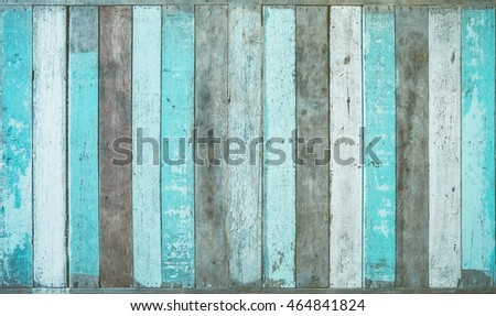Vintage board, blue colored wood background
