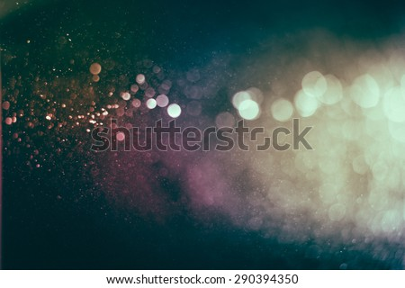 Vintage bokeh background. image is blurred and filtered. - stock photo