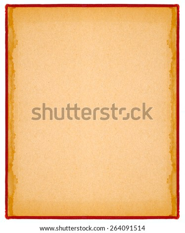 vintage book cover paper with natural pattern isolated on white with work path easy to edit - stock photo