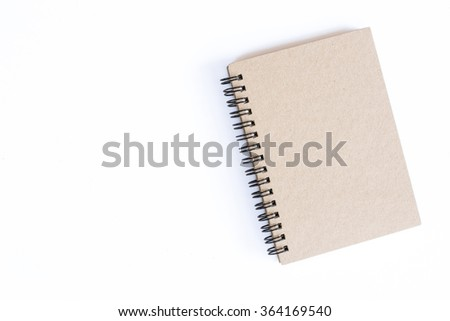 vintage book isolated on white background - stock photo