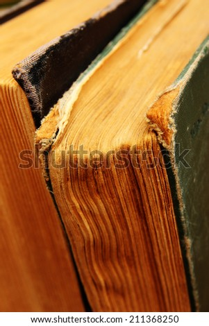 Vintage books close up - stock photo