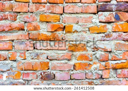 Vintage brick wall abstract background - stock photo