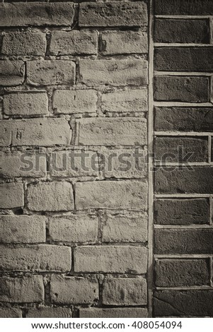 vintage brick wall background  - stock photo