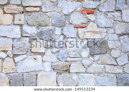 Vintage Brick Wall using as background - stock photo