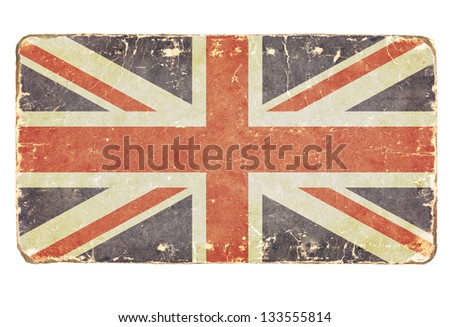 Vintage British flag. Background. - stock photo
