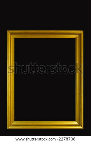 Vintage bronze painted photo frame -isolated on black background