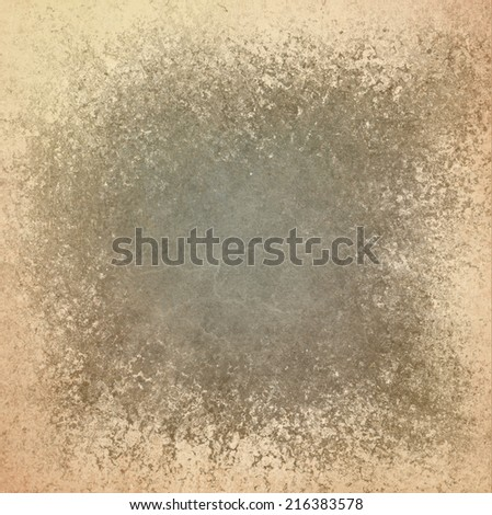vintage brown background paper design with rough ragged texture, shabby distressed gray and brown color stains and faded beige background - stock photo