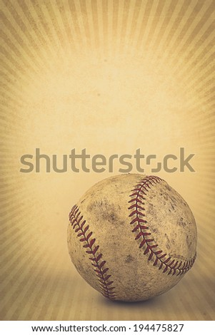 Vintage brown background with Baseball and copy space.