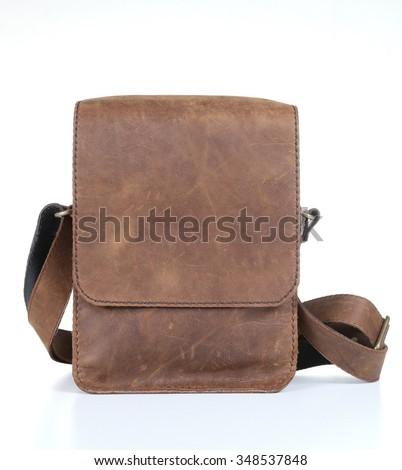 Vintage Brown bag - stock photo