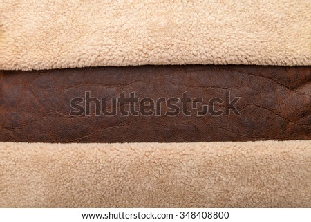 Vintage Brown Leather With Fur Banner Background Textured And Wallpaper Rustic Texture