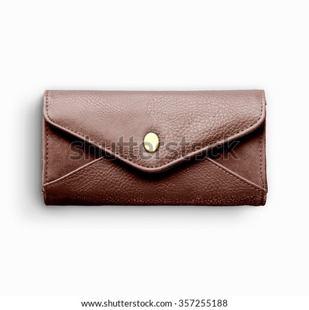 Vintage brown purse - stock photo