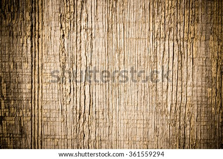 Vintage Brown Wooden Texture Background with Vertical Lines - stock photo