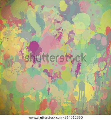 Vintage brush strokes background. Raster version  - stock photo