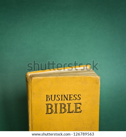Vintage Business Bible with business rules.  With space for your text - business commandments and more.