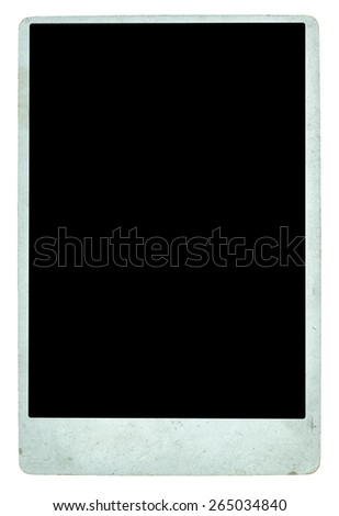 vintage cabinet photograph isolated on white background with clipping path.