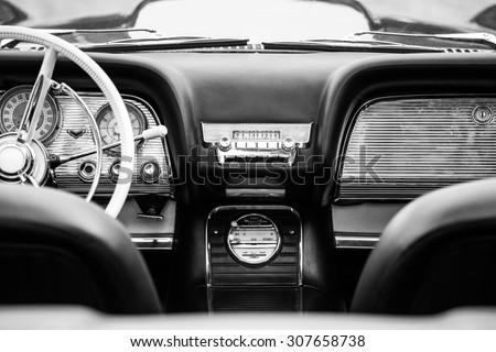 vintage cabriolet - stock photo