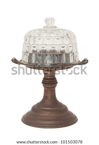 vintage cake stand isolated on white