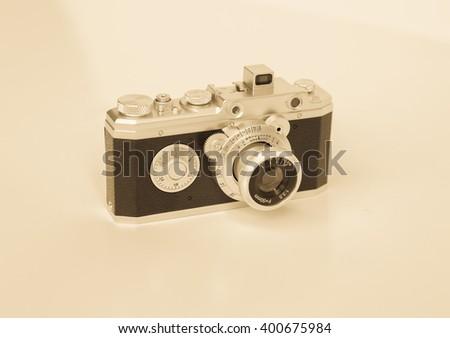 Vintage camera. - stock photo
